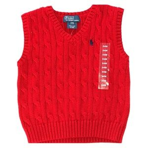 Polo Ralph Lauren Cable Knit Sweater Vest size 24M